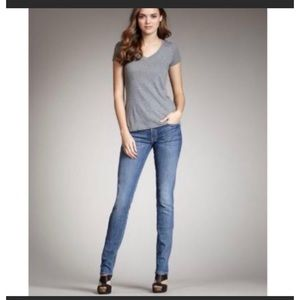 7 For All Mankind Roxanne Skinny Mid Rise Jeans